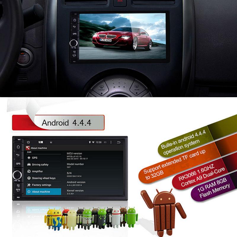 Quad Core 7 Inch 2din Android Car Dash Hean Unit Gps Nav
