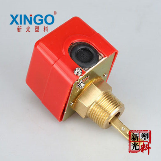 XINGO High Quality Flow Switch 1'' 3A 220VAC Target flow controller Flow Valve FlowMeter johnson f61kb 11c stainless steel target type flow switch flow switch flow controller 1 inch outside the wire