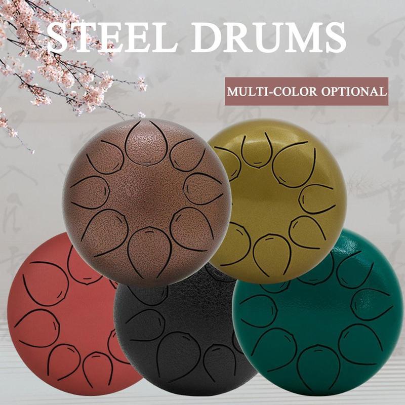 Instrument professionnel de Percussion de tambour de langue d'acier inoxydable de 5 pouces 8 tons pour l'éducation de musique