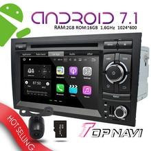 "Car Navigator 7"" Android 7.1 for Audi A4 2002-2008 WANUSUAL  Automotive PC Media GPS Plug&Play Bluetooth Device wifi Multimedia"