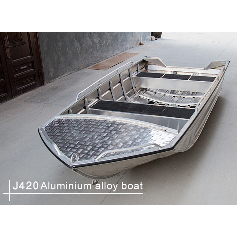 Simple J-style Aluminum Alloy Boat Fishing Speedboat Assault Boat Water Soprts New Fashion Ship Vessel
