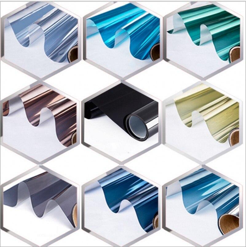 85 cm x 8 m 사용자 정의 크기 실버 열 절연 창 필름 스티커 태양 반사 편도 미러 필름 raamfolie 유리 호 일-에서장식용 필름부터 홈 & 가든 의  그룹 1