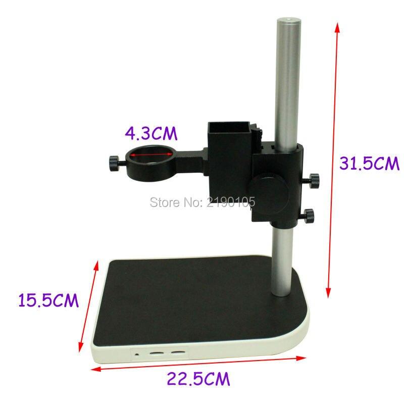 40 mm grande Adjsutable stereo numerique industrie Lab Microscope lentille support de Table double support de la bague