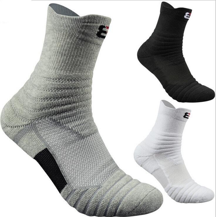 6pcs=3Pairs Men Socks 100% Cotton Fiber Socks, Thick Towel Men's Sock High Protection Quick-drying Mesh Ventilation Socks
