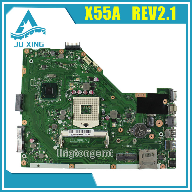Original for ASUS X55A laptop motherboard REV 2.1 fully tested perfect free shipping for asus m50sr laptop motherboard m50vm rev 2 0 motherboards 100% tested free shipping
