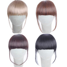 Factory price 1Pcs Women Fashion Pretty Girls Clip On Clip In Front Hair Bang Fringe Hair Extension Piece Wigs Stand May11 HW(China)