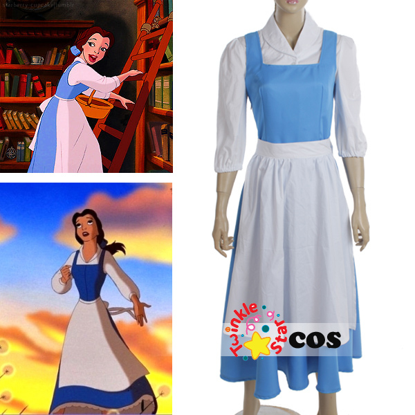 Belle blue dress costume for women