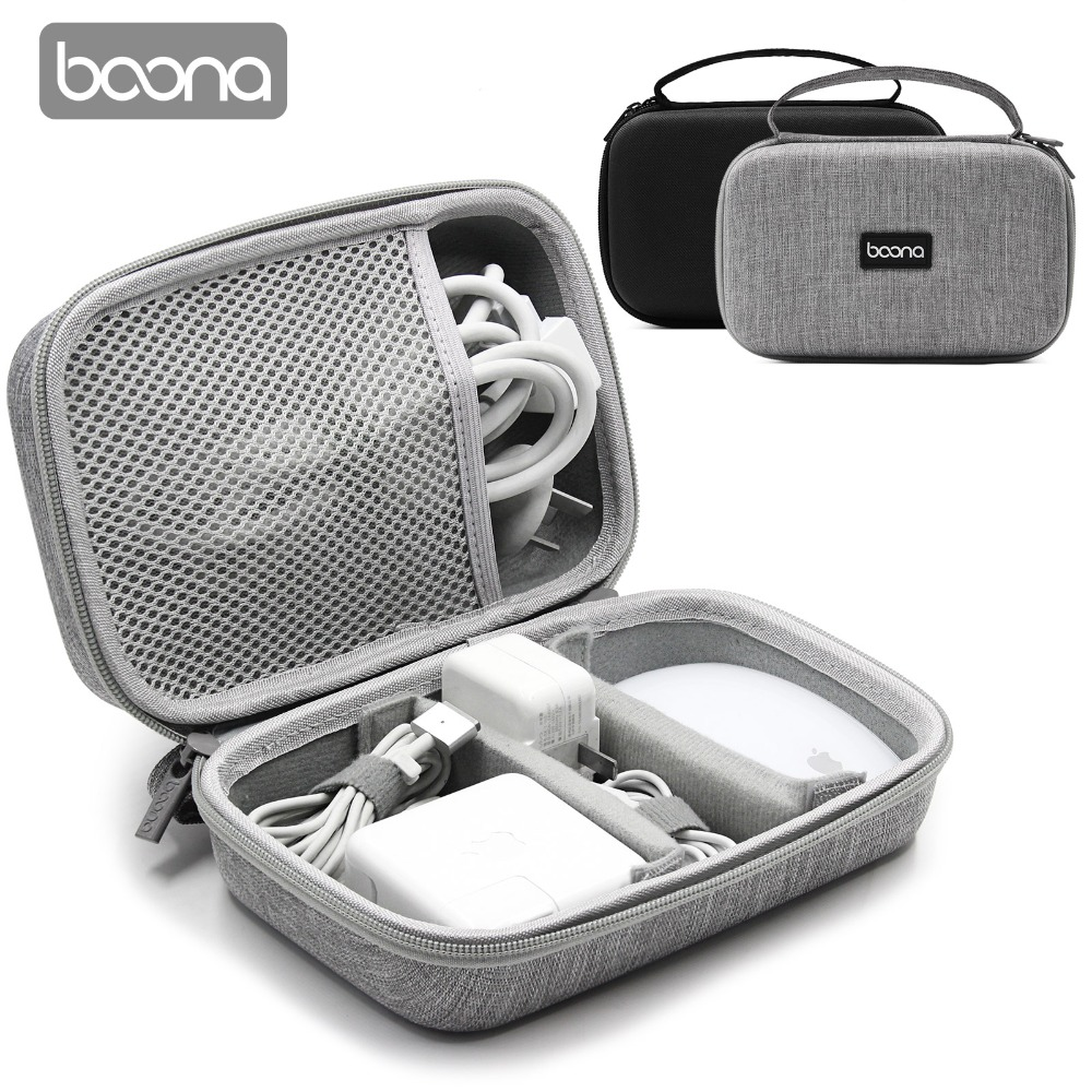 Boona EVA Hard Laptop Accessories Power Supply Case Electronic Gadgets Bag for Apple Travel Bag iPhone Accessories,