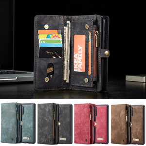 Image 2 - Phone Case sFor Samsung Galaxy A20 A20E A30 A40 A70 A80 A50 case 2 in 1 Multi functional Wallet Leather Magnet back cover Coque