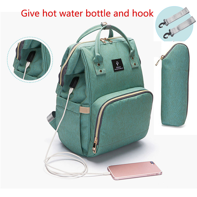 VRTREND Baby Diaper Bag With USB Interface Large Capacity Baby Bag For Stroller Waterproof Backpack Nursing Bag For Baby Care