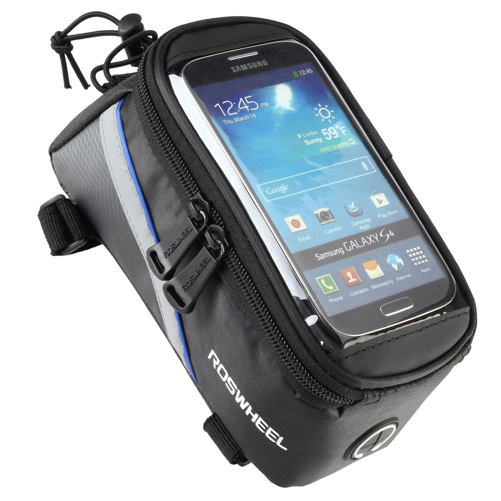ROSWHEEL BICYCLE BAGS CYCLING BIKE FRAME IPHONE BAGS  HOLDER PANNIER MOBILE PHONE BAG CASE POUCH 2
