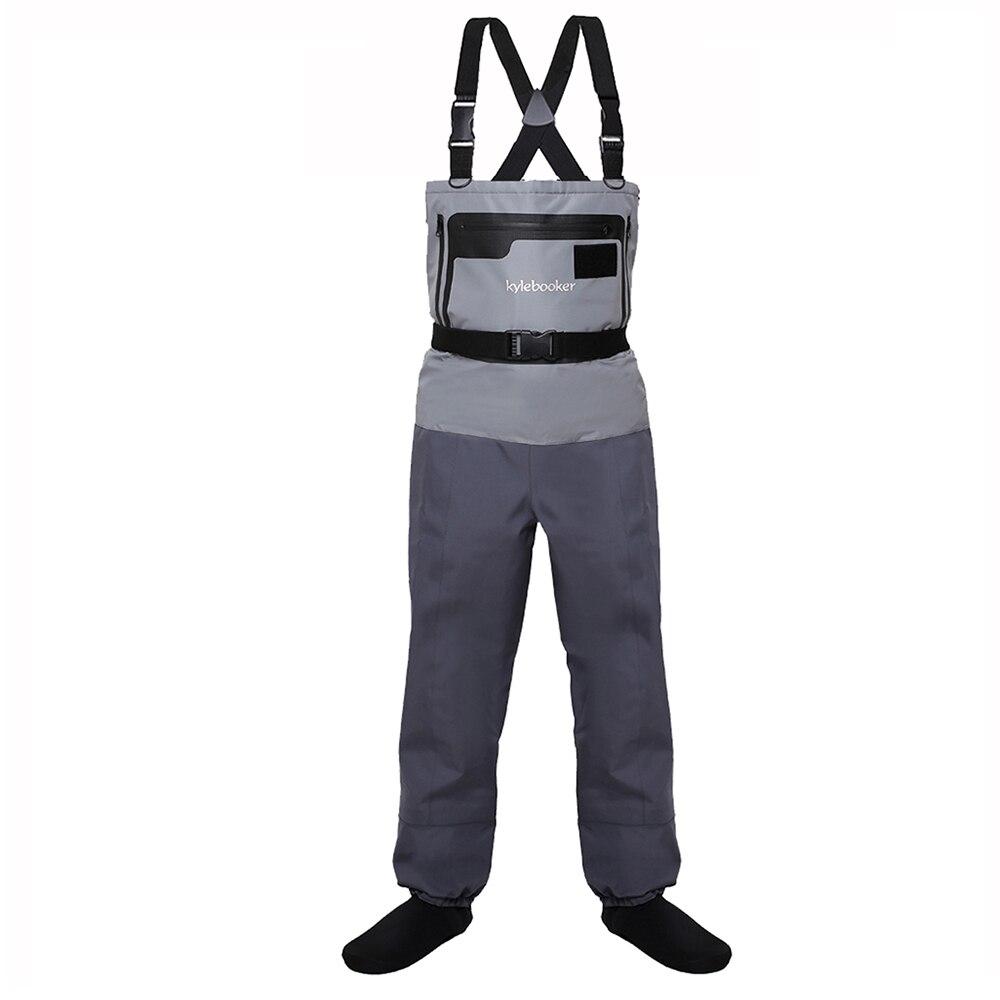 5-שכבה עמיד לנשימה עמיד למים גרב רגל טוס דיג מגפים חזה מכנסיים לגברים ונשים