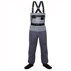 5-strato Resistente E Traspirante Impermeabile Stocking Piede Fly Fishing Petto Trampolieri Pantaloni per Gli Uomini e Le Donne