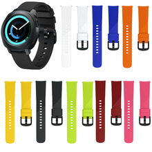 MASiKEN Silicone Rubber Wrist Band Strap For Samsung Gear Sport Smart Watch Bracelet Replacement Accessories