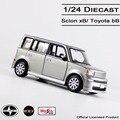 Maisto 1:24 Diecast Toyota bB/Scion xB coches de aleación modelo de coche/coches de Colección