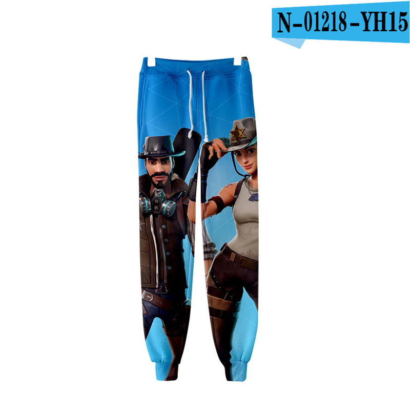 Battle Royale Pants 2019 Game Clothes Costume Battle Royale Clothings Royal Clothings Children Clothing Fortnight sport pants