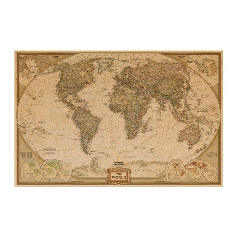 Compare prices on coffee world map online shoppingbuy low price kraft paper vintage poster retro wall sticker funny world map coffee shop decoration sticker adornment of gumiabroncs Gallery