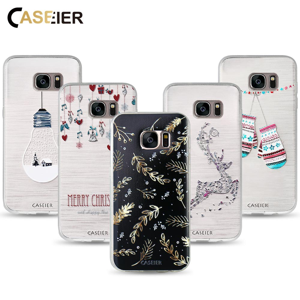 CASEIER Phone Case For Samsung Galaxy S8 Plus Note 8 Case Soft TPU Christmas Cover For Samsung Galaxy S6 S7 Edge Shell Capinha