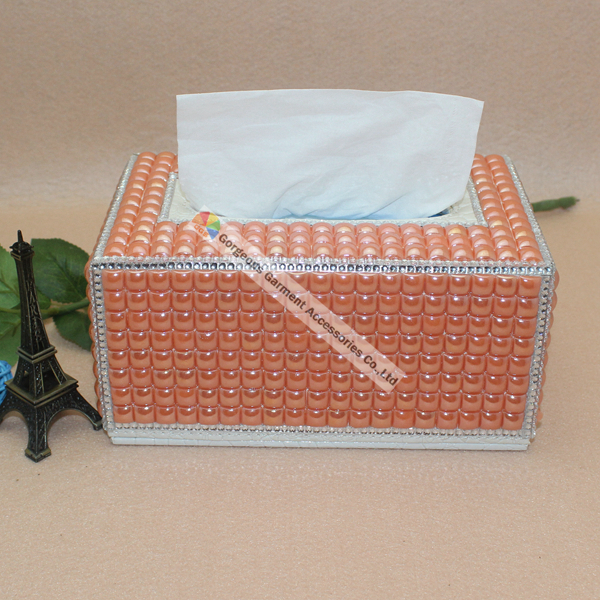Luxury Handmade Coral Ceramic Tissue Holder Rhinestone Napkin Box Home  Hotel KTV Office Car Tissue box Best Gifts For Relatives-in Tissue Boxes  from Home ... ccf209737040