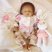 18 inch 45 cm Silicone baby reborn dolls, lifelike doll reborn Sleeping doll adorable doll Festival gift for boys and girls