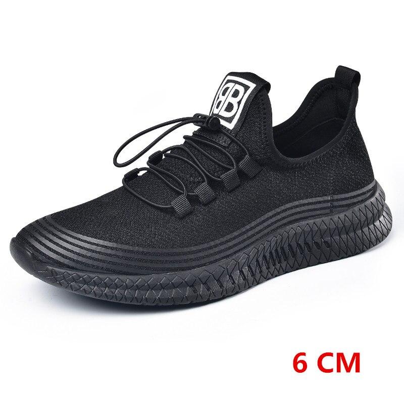 Фирменная Новинка Лето Для Мужчин's увеличивающий рост с внутренним каблуком и толстой стелькой спортивная обувь, кроссовки с лифтом повышенные стельки общая получить выше 6 см/8 см - 3