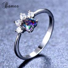 Кольцо bamos с кошачьей/собачьей лапой изящное кольцо сердцем
