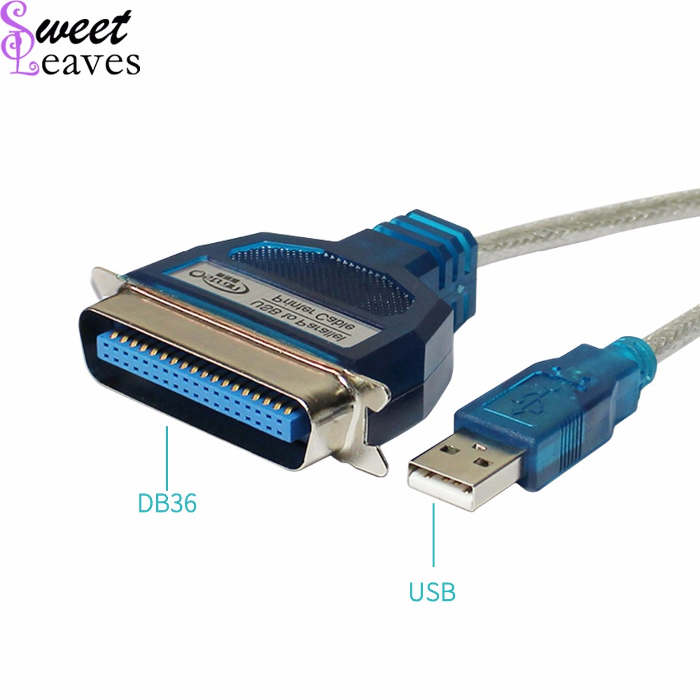 NEW 36 Pin Male Parallel IEEE 1284 Printer Cable Adapter Wire Cord to USB