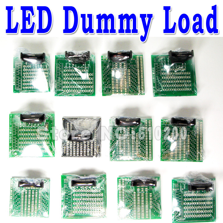 Free Shipping 12pcs/set desktop+notebook  CPU tester  kit set dummy load LED Fault Diagnosis Electronic load card AM3 775 638 desktop cpu 940 socket tester cpu socket analyzer dummy load fake load with led