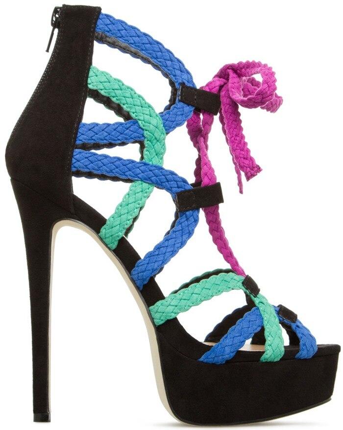 Sandale Plattform Schuhe Color Plus Big Color Showed Mischfarbe As Frauen as 47 Sandalen Designer Welle Größe High Heel Damen Sommer gqCwpOPC
