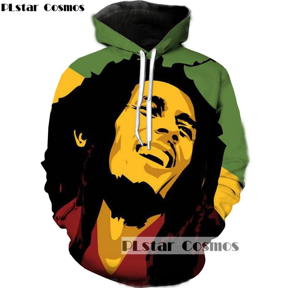 PLstar Cosmo Hoodies Men Women Reggae Star Bob Marley 3D Sweatshirts Pullover Tracksuit Sudadera Hombre Hip Hop Hoodie Dropship