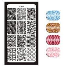 1 x XY-Z Series Size 120*60MM Stamp Stamping Image Konad Plates Print Nail Art Templates DIY For XYZ-026
