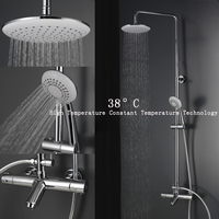 cold shower faucet set thermostatic shower nozzle shower room new thermostatic valve intelligent temperature control