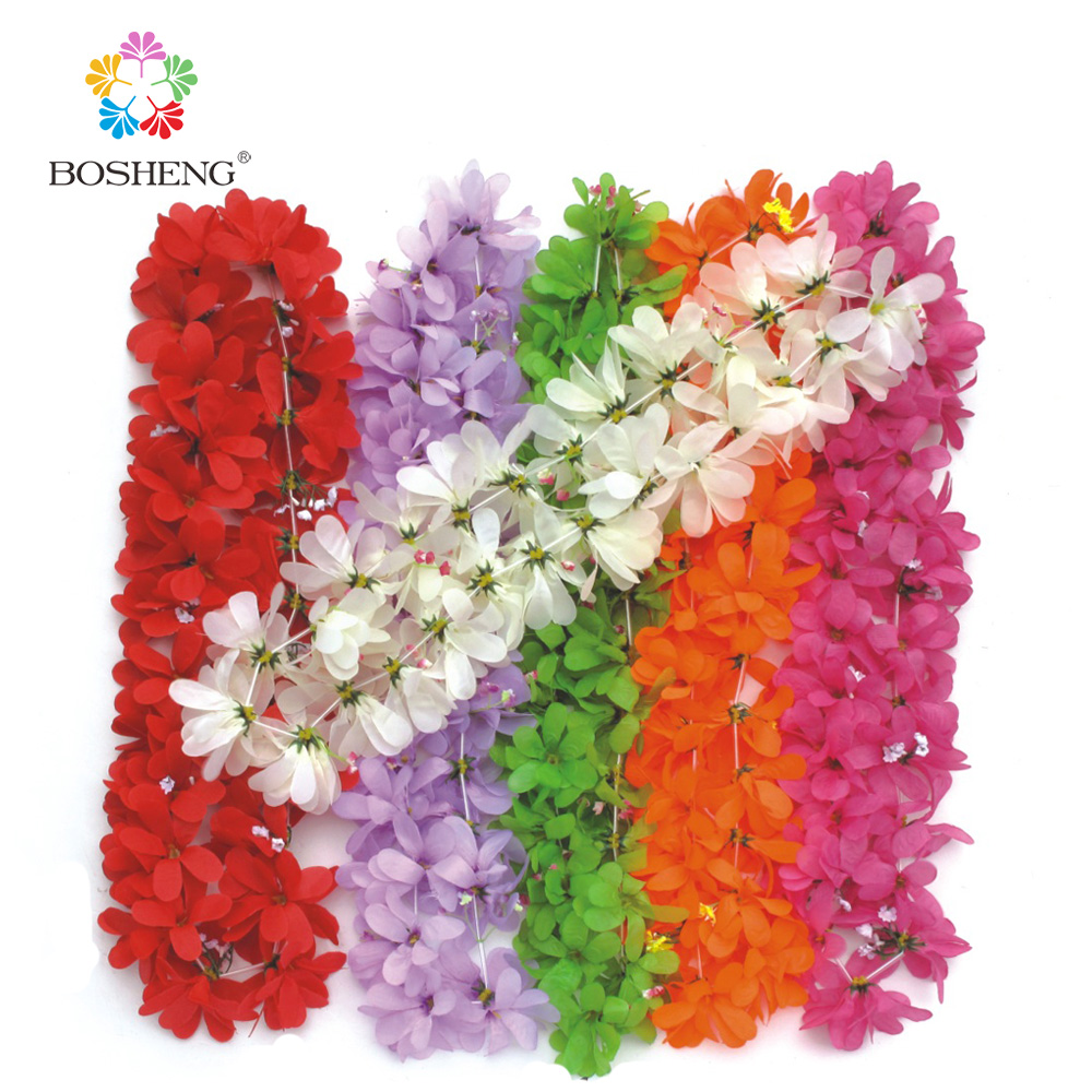 50 pcs hawaiian flower leis garland necklace fancy dress party 10pcslot hawaiian leis party supplies garland necklace colorful fancy dress party hawaii beach fun izmirmasajfo