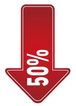 6 см ширина 10% 20% 30% скидка 50%, продвижение скидка этикетка наклейка, арт. PD08