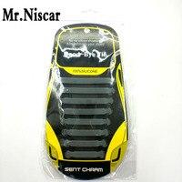 Mr Niscar 1Set 16Pcs Grey New Lazy Silicone Shoe Laces 8 Size T Shape Texture Elastic