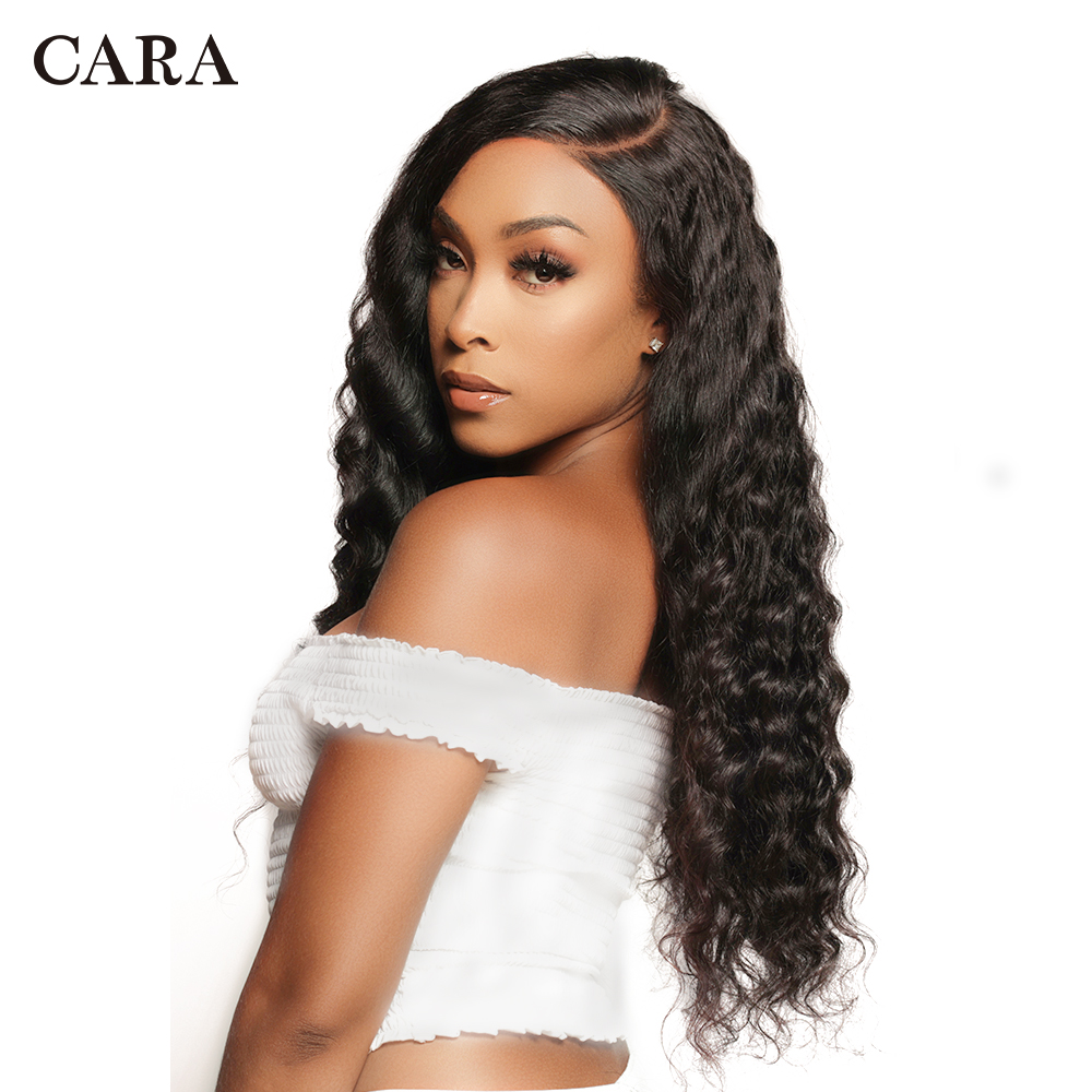 Glueless Pre Plucked Full Lace Human Hair Wigs Brazilian Loose Wave Virgin Human Hair Full Lace Wig With Baby Hair 250% CARA