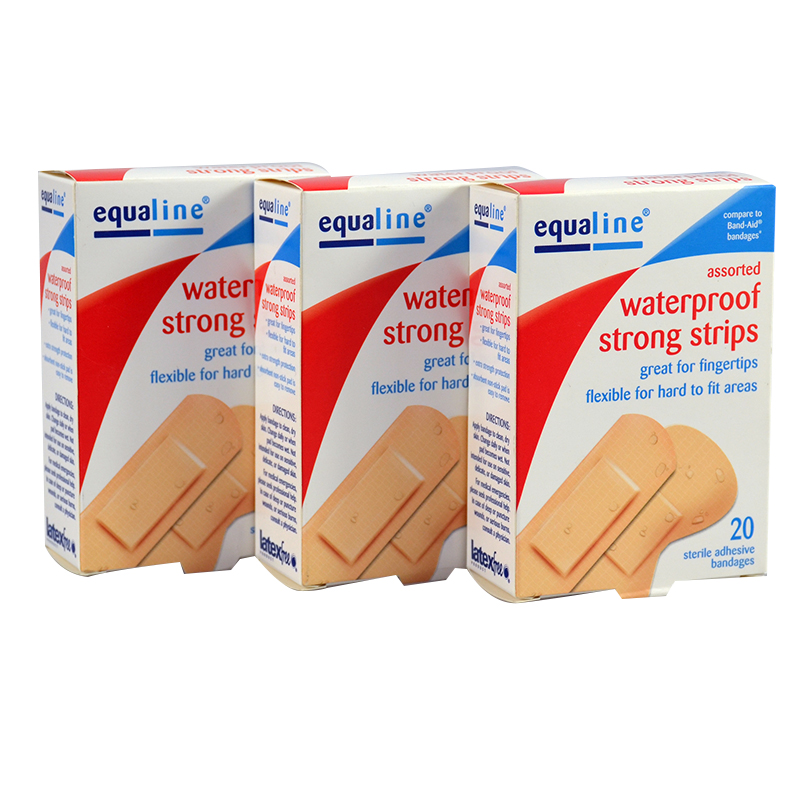 Free Shipping 60PCs/3Boxes PE Waterproof Assorted Sterile Latex Free Adhesive Bandages Band aid For Knees elbows цена и фото