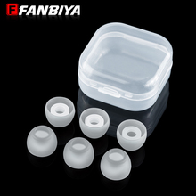 FANBIYA 6pcs M size 11mm soft Silicone Eartips in ear headphone case box tips earphone covers ear pads cushion for mp3 mp4 music
