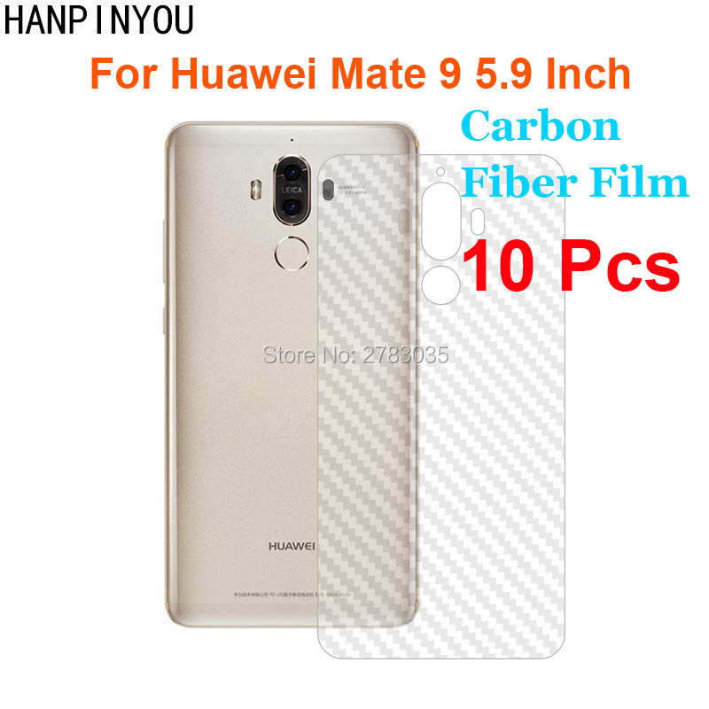 "10 Pcs/lot For Huawei Mate 9 5.9"" New Durable 3d Anti-fingerprint Transparent Carbon Fiber Back Film Screen Protector Rear Cover For Improving Blood Circulation"
