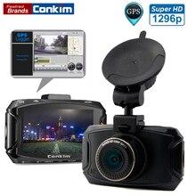 Conkim Voiture DVR Caméra Ambarella A7LA70 2304*1296 P 30fps 2.7 Pouces LCD VOITURE Dvr 170 Degrés G-capteur Dash Caméra Avec GPS En Option