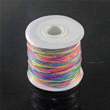 Купить с кэшбэком 5 Meters Colorful Flexible Elastic Cord DIY Jewellery Making Beading Thread String Rope Crafts Accessories Diameter 1mm YW-372