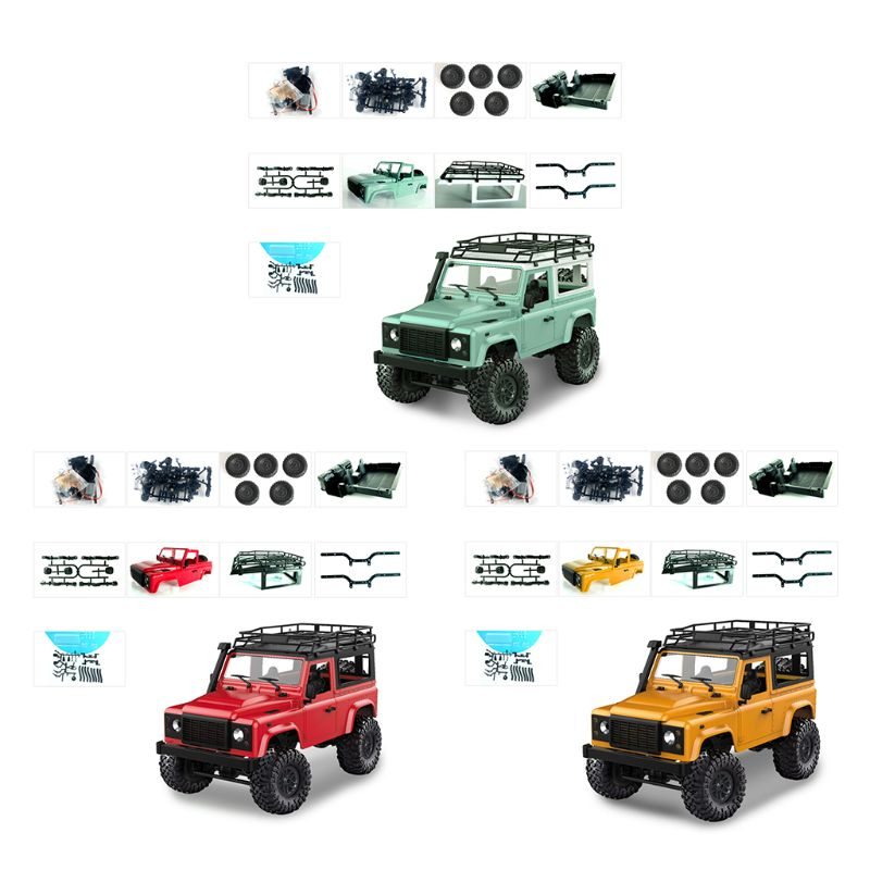 1/12 RC Rock Crawler D90 2.4G 4WD Car Remote Control Truck Toys Unassembled Kit Defender1/12 RC Rock Crawler D90 2.4G 4WD Car Remote Control Truck Toys Unassembled Kit Defender