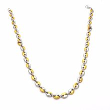 Jewelry Best Sale Stainless Steel Gold Silver Coffee Beans Chain Necklace Punk For Men & Women Gifts N04041(China)