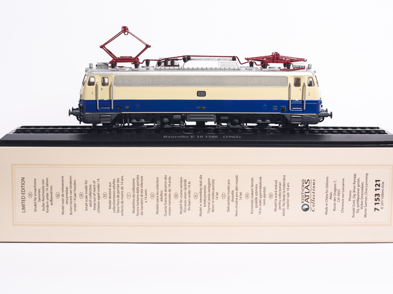 ATLAS EDITIONS 1 87 Baureihe E 10 1266 1962 COLLECTIONS LIMITED EDITION TRAIN MODEL