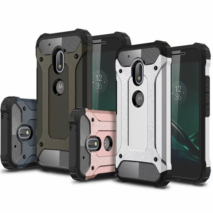 Superb Hybrid Durable Armor Case For Motorola Moto G4 / Play / Plus / G3 / E3  Silicone + PC Shockproof Hard Rugged Cases Cover Back