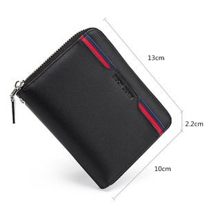 Image 3 - BISON DENIM Genuine Leather Wallet Male Business Credit Card Holder Wallet Multi functional Coin Wallet Purse Small Wallet N9481