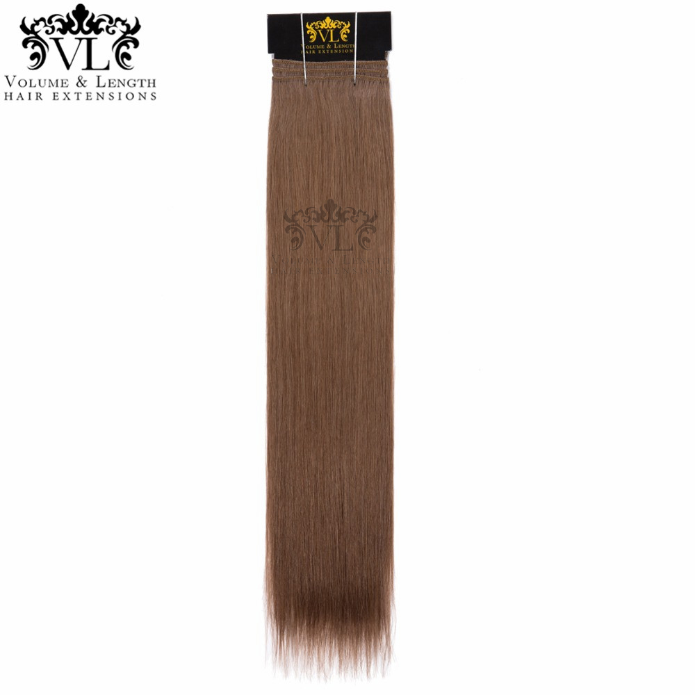 VL Foncé Cendres Brun D'une Seule Pièce Cheveux Armure 100% Remy Extensions de Cheveux Humains Droite Cheveux Salon Professionnel Trame Livraison Gratuite #5