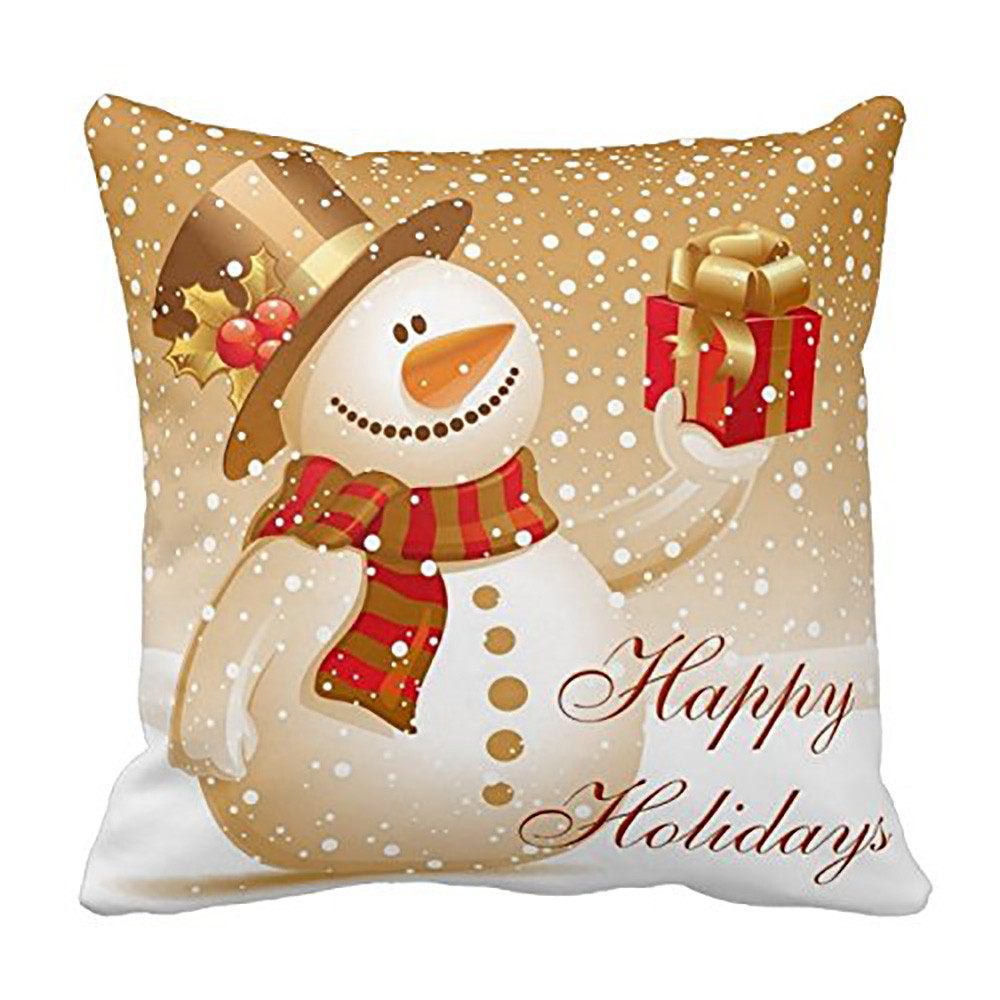 Image 5 - Merry Christmas Pillow Cover Santa snowman Cotton Linen Sofa Modern Cozy Throw Cushion Cover Home Bed Car Decoration-in Cushion Cover from Home & Garden