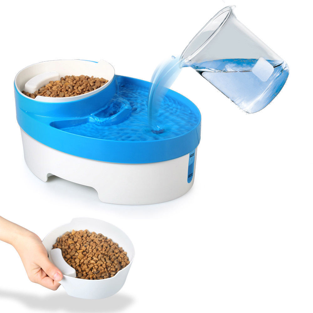 3 In 1 Automatic Electric Pet Water Fountain Cat Dog Food Feeder With 3L  Large Water Capacity 800ml Food Bowl In Dog Feeding From Home U0026 Garden On  ...