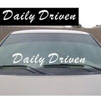 Daily Driven Crown Windshield Banner JDM Decal Ek Eg